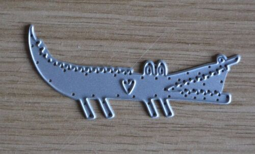 Cute Funny CROCODILE ALLIGATOR Reptile Animal Zoo Metal Cutting Die C34
