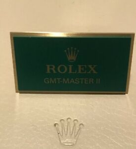 Molto-RARA-Genuine-ROLEX-GMT-MASTER-II-placca-di-visualizzazione
