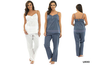 Womens Woven Pyjama Set - Available In 2 Colours