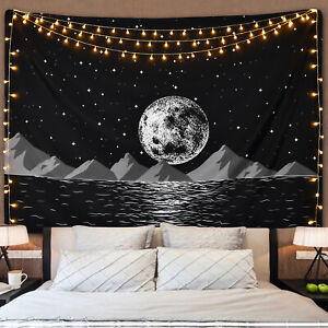 Hippie Night Scenery Print Tapestry New Room Wall Hanging Tapestries Home Decor