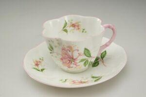 14-Shelley-Fine-Bone-China-Tea-Cup-amp-Saucer-Dainty-Shape-Pink-Flowers