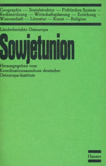 Koordinationsausschuss Deutscher Osteuropa-Institute Länderberichte Osteuropa I