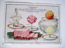 Wonderful Vintage Advertising Booklet for Jello Ice Cream and Ices *