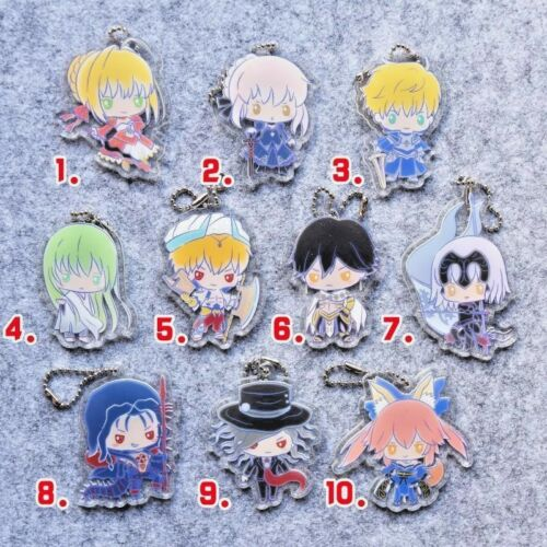 Hot Japan Game Anime Fate//Grand Order Charm Acrylic Strap Keychain Pendant P70