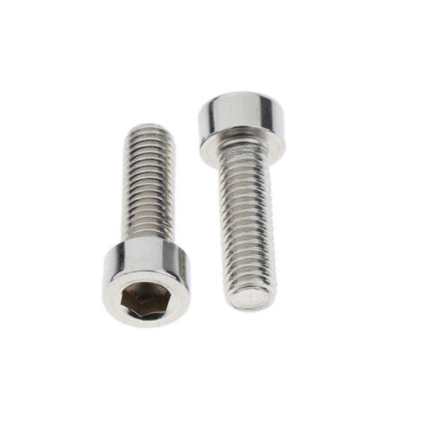 10Pcs Bike Water Bottle Cage Bolts Stainless Steel Hex Socket M5x19mm Screws