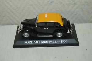 VOITURE-COLLECTION-TAXI-FORD-V8-MONTEVIDEO-1950-NEUF-METAL-CAR-ALTAYA-1-43