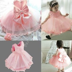 c016fe6258f5c Flower Girl Toddler Kid Baby Princess Pageant Wedding Party Tulle ...