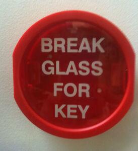 Break Glass Key Box Hammer Amp Chain Cover Sign Fire Alarm