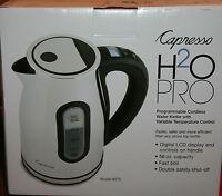 Capresso H2o Pro Cordless Programmable Water Tea Kettle -