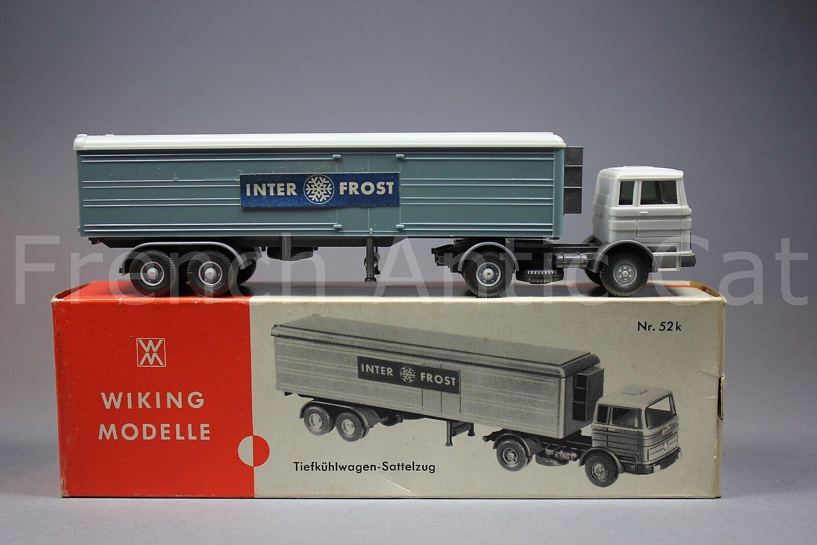 U537 wiking modelle tiefkühlwagen sattelzug inter frost mercedes 1620 oh 52 k 69