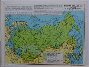 1961-SOVIET-MAP-RUSSIAN-EXPANSION-IN-ASIA-19th-CENTURY-1914-SIBERIA-CHINA-JAPAN