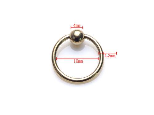 10pcs Captive Bead Ring Ball Hoop Eyebrow Nipple Nose Lip Earrings Body Piercing