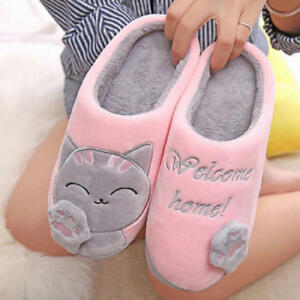 f3d7d6b1bbb Women Slippers Cute Cozy Cat Paw Home Warm Winter Slippers Indoor ...