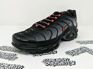 Details about Nike Air Max Plus TN Tuned Black University Red Wolf Grey Gradient CI2299 001
