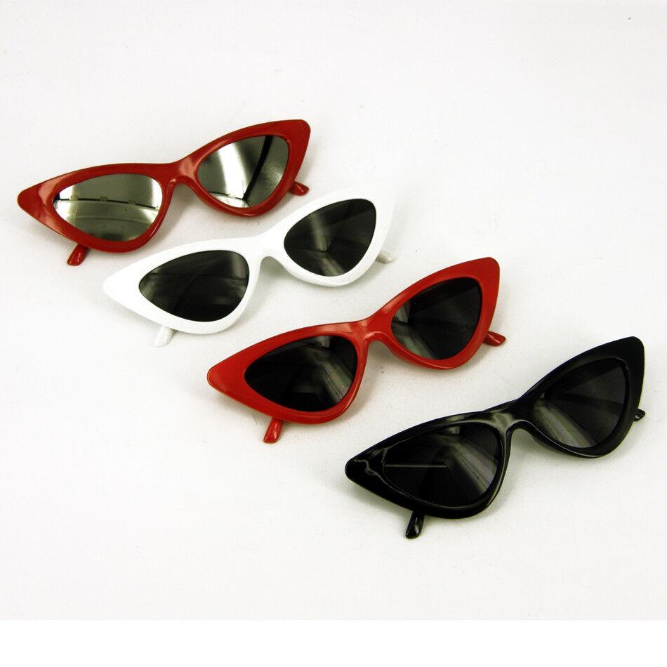 Acheter Pas Cher Lunettes De Soleil Rétro, Style Classique Rouge Noir Blanc 1950 1960 Enterrement Vie Jeune Fille êTre Nouveau Dans La Conception