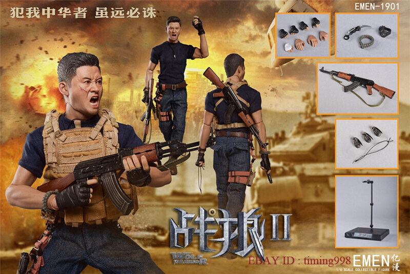 Wolf Guerrero 2 frente frío 1 6 Wu Jing Figura de Acción Figura Juguetes Coleccionables GK