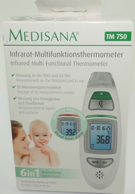 Medisana Multifunktionsthermometer Baby Ohrthermometer Fieberthermometer A75