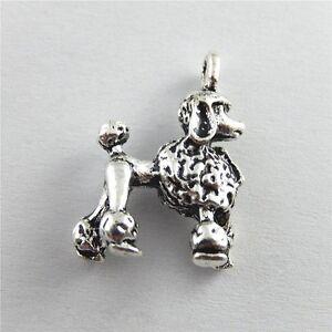 51433-Antique-Silver-Alloy-Pet-Dog-Poodle-Charms-Pendants-Findings-Jewelry-10pcs