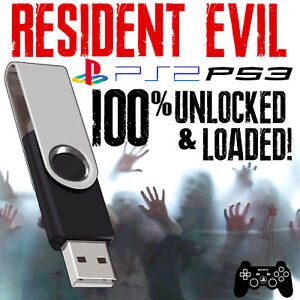 RESIDENT-EVIL-1-2-3-4-USB-MEMORY-CARD-SAVES-PSX-PS2-PS3-Code-Veronica