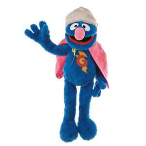 Living Puppets SE109 Supergrobi Hand 65 cm with Cape from the Sesamstrasse