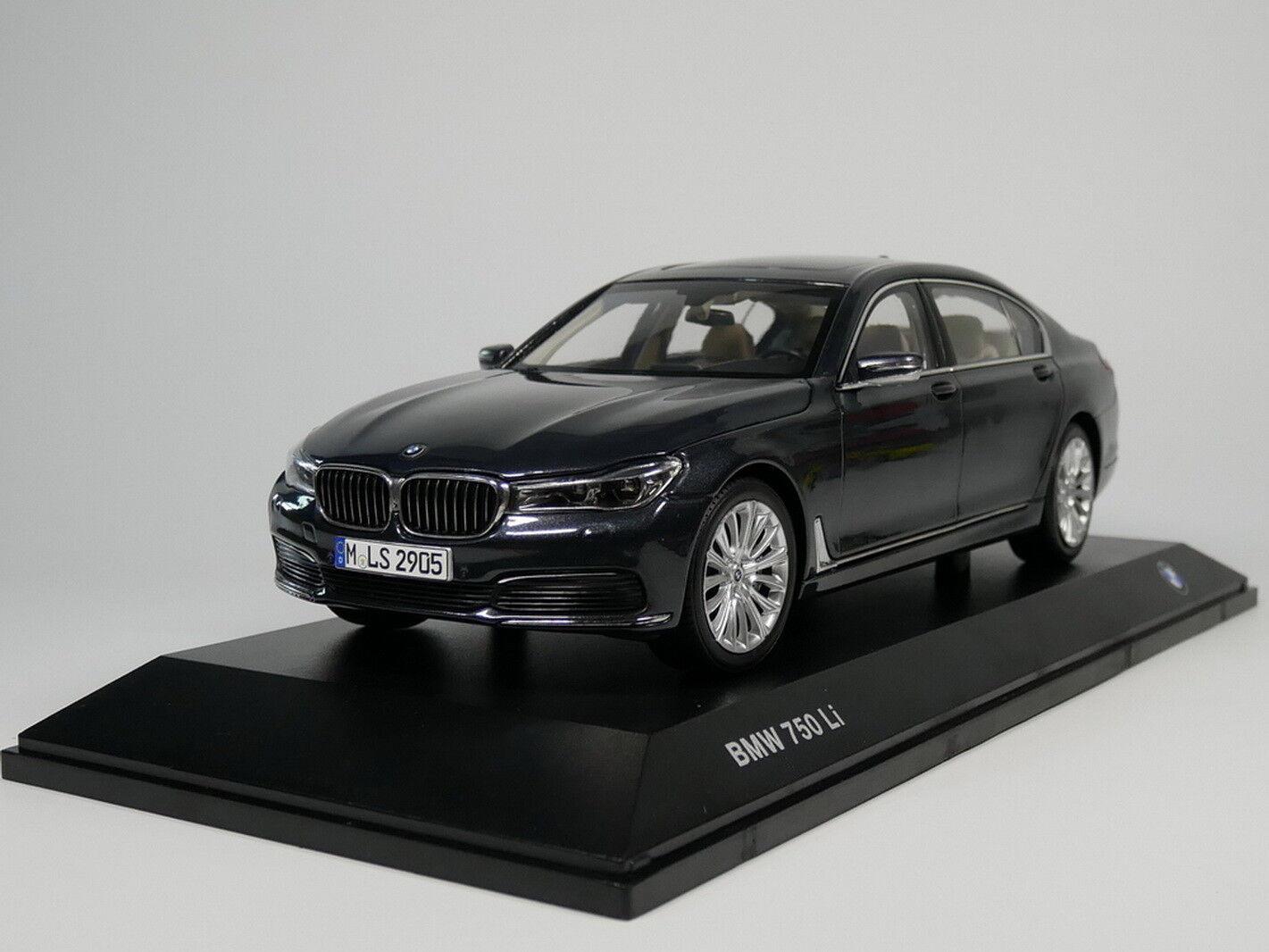 1 18 Scale BMW 7 Series 750 Li 2017 Grey Diecast Car Model