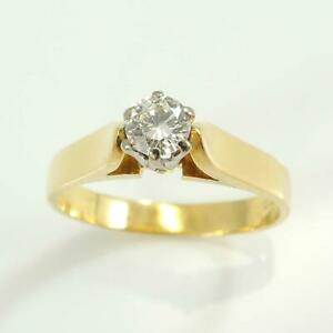 Pre-Owned-18-Carat-Gold-Diamond-Solitaire-Ring-Brilliant-Cut