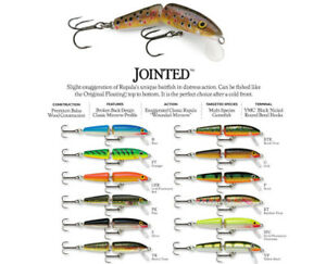 RAPALA JOINTED 11/'s--lot of 3 SILVER COLORED-FISHING LURES-J11