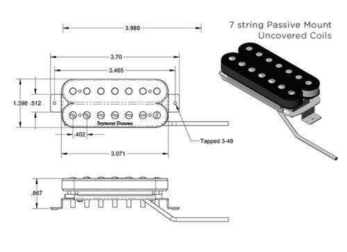Seymour Duncan Nazgul 7 String Bridge Humbucker Guitar Pickup Black STRING SET