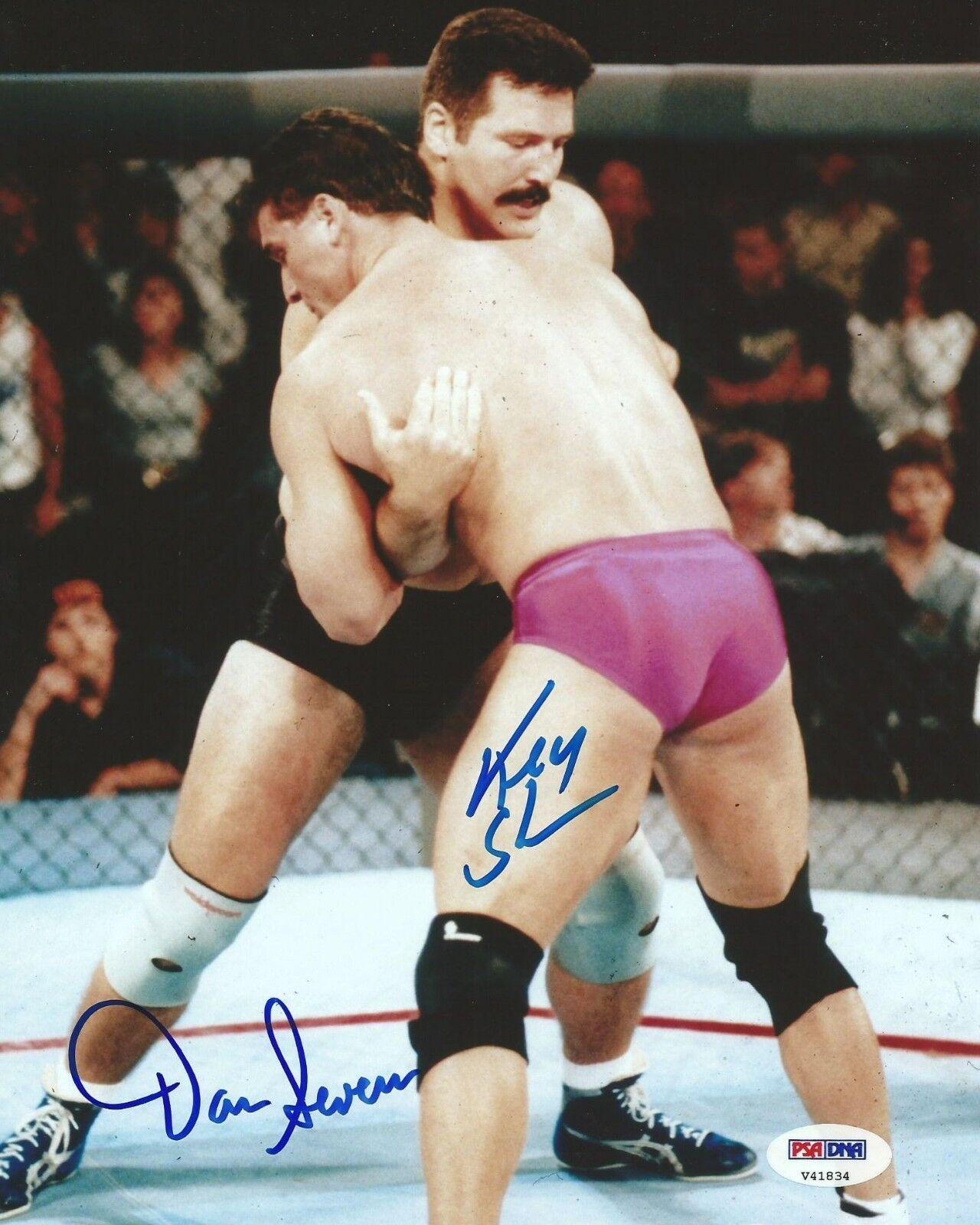 Ken Trèfle & Dan Severn Signé UFC 8x10 Photo PSA   DNA COA Autographe 9 Image