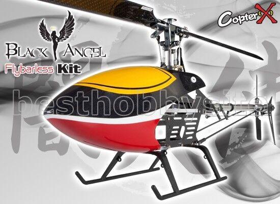 CopterX 450BA Negro Cx Ángel Flybarless Kit De Correa T-Rex Trex 450 PRO helicópteros
