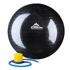 Black Mountain 75cm Balance Pilates Exercise Stability Ball With Air Pump