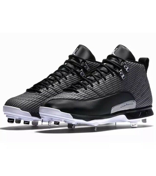 Nike Uomo's Air Jordan XII 12 Retro Metal Cleats Shoes Sz. 10.5 NEW 854567-010
