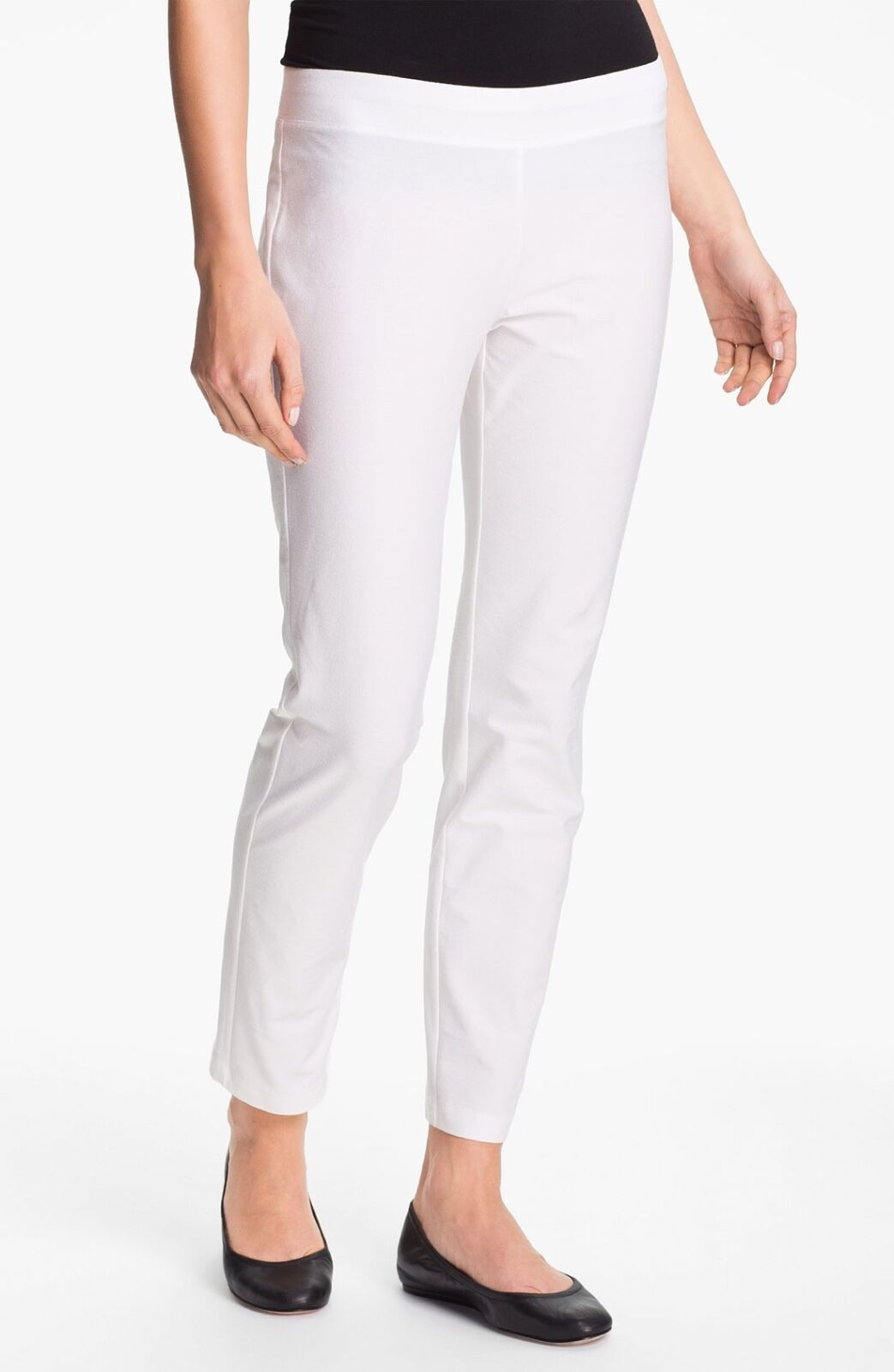 NEW Eileen Fisher EETK Slim Ankle Pant White Size PP Petite Small S Large L