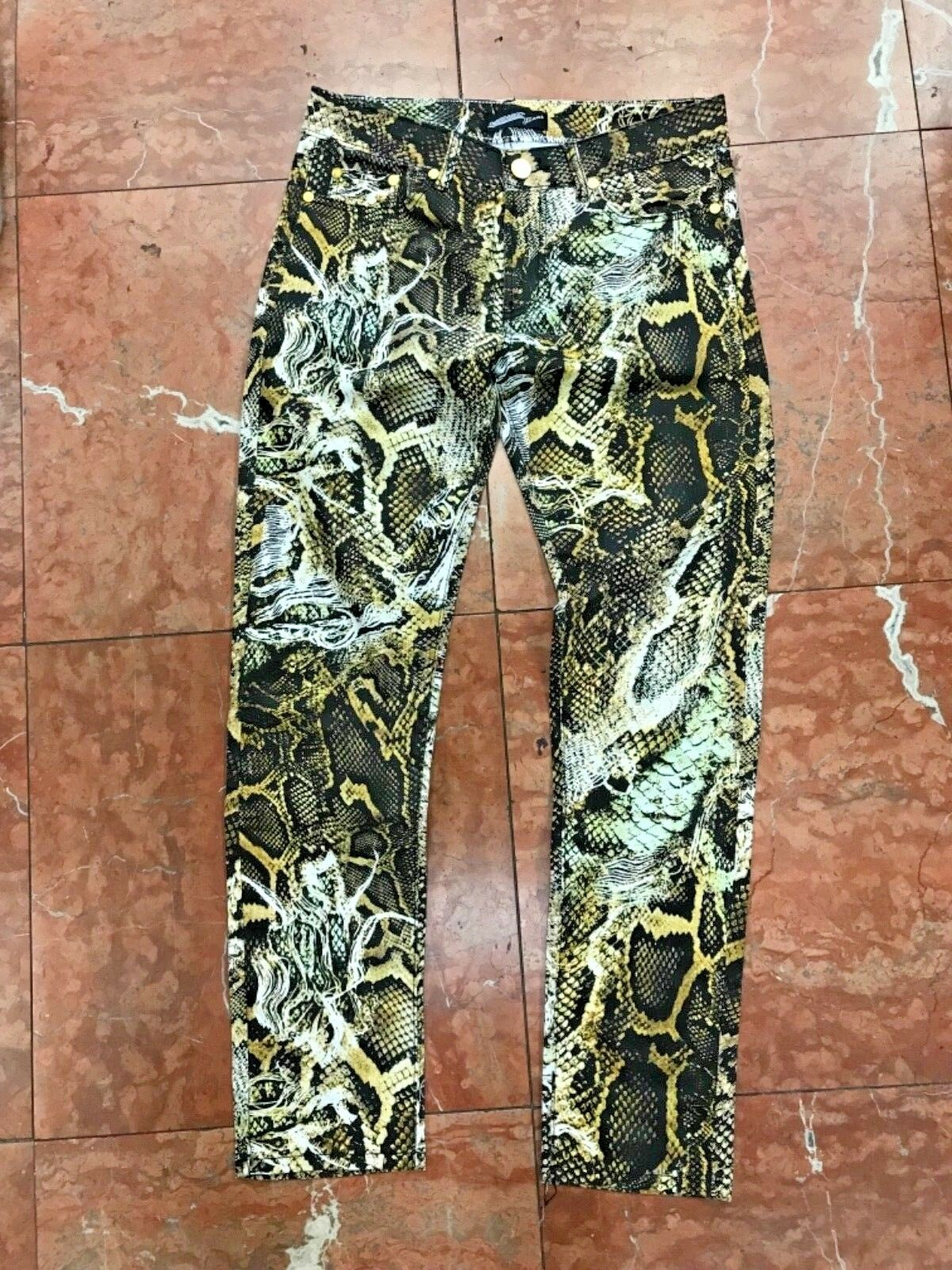 Men's Snake Print Fashion Pants
