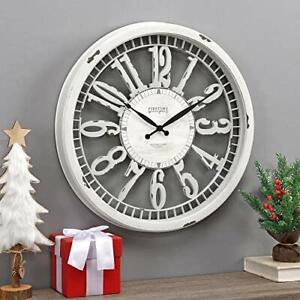 FirsTime-amp-Co-Whitney-Wall-Clock-20-034-Antique-Cream