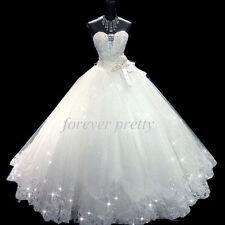 New Lace Ivory/White wedding bridal gown dress custom size 4-6-8-10-12-14-16+++