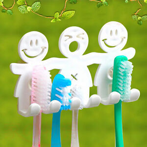 Toothpaste-Toothbrush-Holder-Wall-Mount-Hanger-Home-Bathroom-Suction-Grip-L-G
