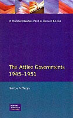 1 of 1 - The Attlee Governments 1945-1951 (Seminar Studies)-ExLibrary