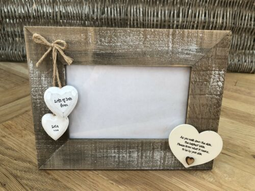 Shabby personalised Chic Photo Frame Wedding Day Gift For Bride From Bridesmaid