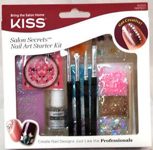 Kiss Salon Secrets Nail Art Starter Kit Pink Purple Filigree Flowers ...