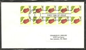 US-SC-2527a-Flower-Booklet-pane-of-10-FDC-No-Cachet