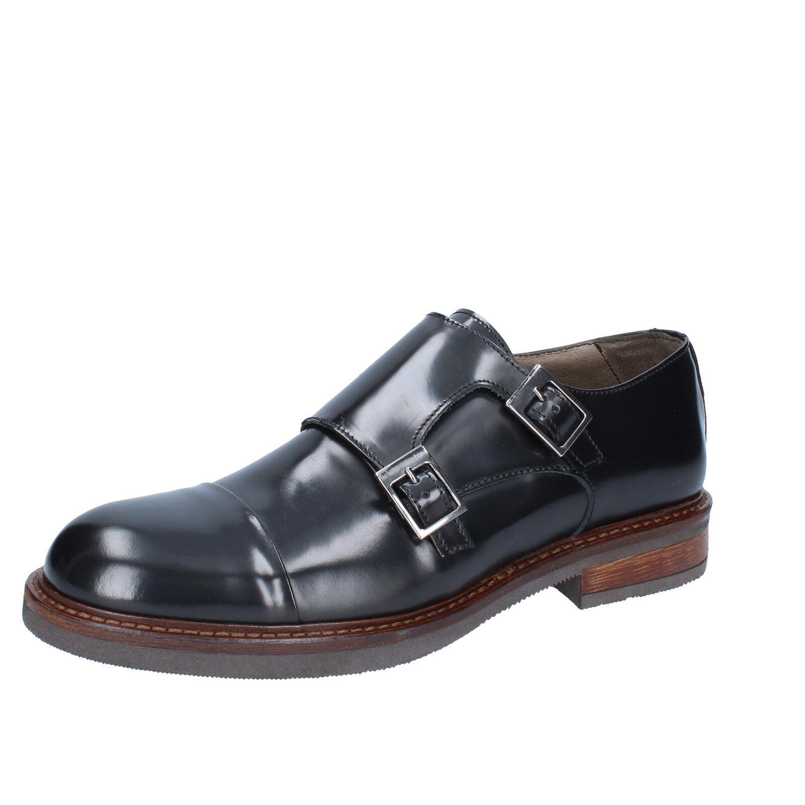Men's shoes FDF SHOES 7 (EU 40) elegant black shiny leather BZ333-40