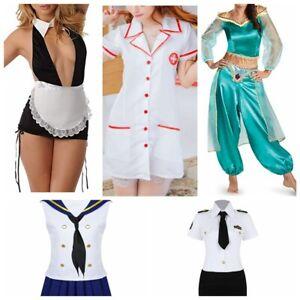 Sexy-Women-039-s-Halloween-Costume-Cosplay-Maid-Nurse-Police-Officer-Uniform-Dress