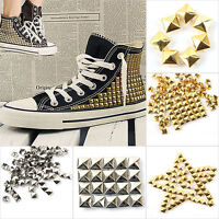 DIY Pyramid Rivet Metal Studs Spots Spikes Punk Leathercraft 6-12mm 100 Pcs