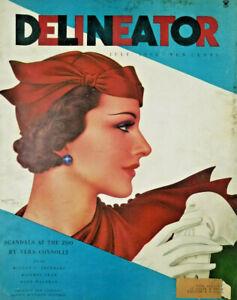Delineator Vtg July 1934 Womens Fashion Magazine Zoo Scandel Vera Connolly - VG