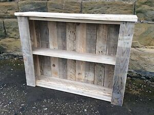 Image Is Loading Rustic Wall Mounted Enclosed Shelving Unit Made From