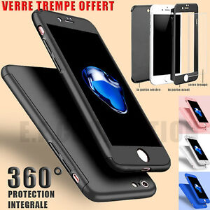 COQUE-INTEGRAL-360-IPHONE-6-6S-7-8-5S-X-XS-MAX-VITRE-VERRE-TREMPE-PROTECTION