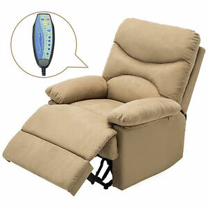 Details About Brown Ergonomic Massage Recliner Chair Lounge Sofa With  Control Living Room