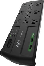 APC 11-outlet Surge Protector Power Strip With USB Charging Ports 2880 Joule...