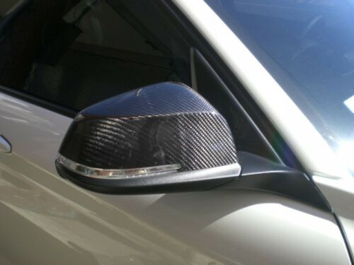 F30 F31 Carbon Fiber Side Mirror Cover OVERLAYS FOR 12-18 BMW 335i 328i 340i
